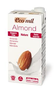 Ecomil Lait d'amande bio sans sucres Tetra Brik 1 L