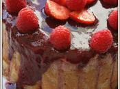 Charlotte fraises, framboise, fromage blanc mascarpone