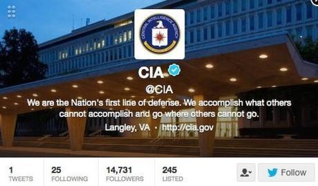 La CIA est arrivée sur Twitter et Facebook