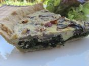 Quiche épinards, champignons, noisettes Roquefort