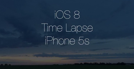 iOS 8 time lapse iPhone 5S