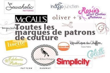marques patrons couture Toutes les marques de patrons de couture