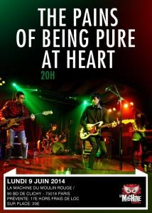 The Pains Of Being Pure At Heart à la Machine du Moulin Rouge – Live Report et Setlist (Paris 9 juin 2014)