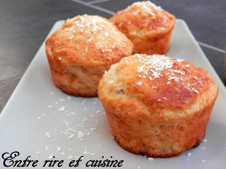 Muffins aux bananes à l'eau de coco