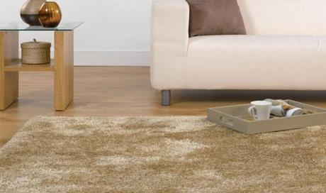 Tapis shaggy beige natural