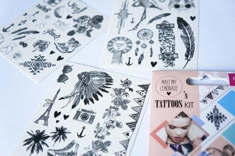 Bourjois faux tatouages Make my Lemonade Tattoos kit test avis