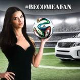 KIA lance sa Coupe du monde avec Adriana Lima