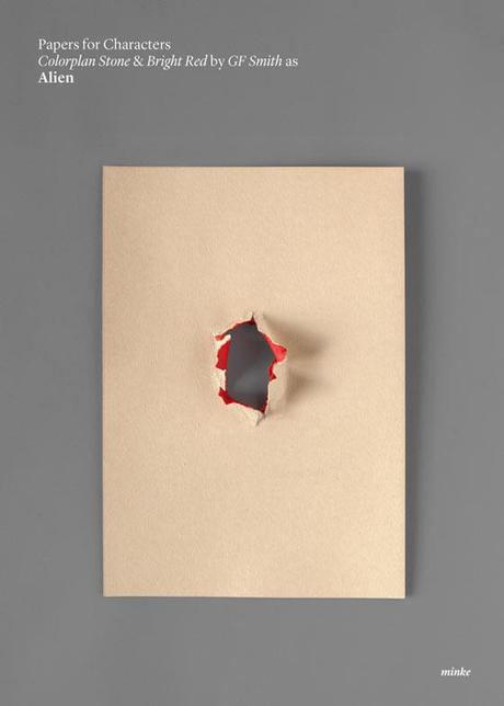 Minimalist movie poster in paper art by Atipo