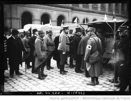 2. 14 mars 1915, Mr Millerand devant les autos ambulances russes aux Invalides.