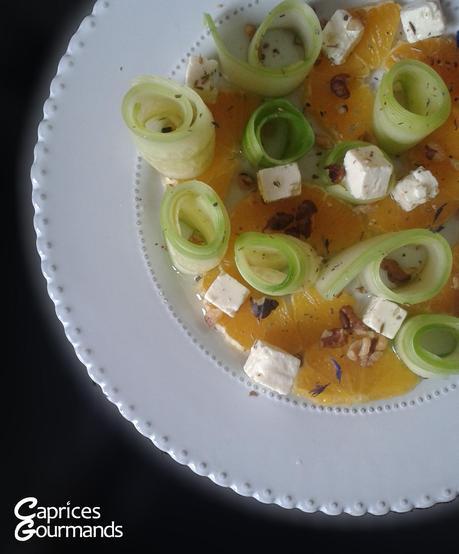 Salade feta-concombre