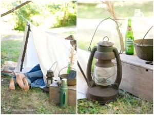 Amoureux en camping