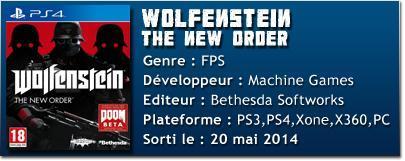 fich tech wolfenstein [TEST] Wolfenstein : The New Order (PS4)
