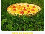 Quiche macaronis, mimolette tomates cerises