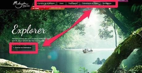 Site de tourisme de la Malaisie. Exemple à suivre