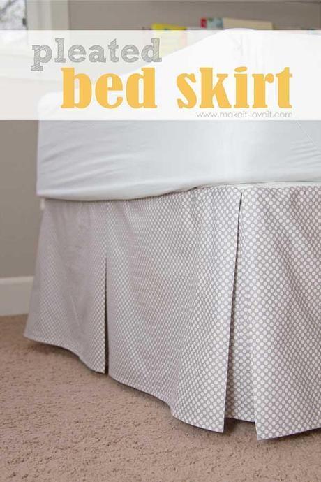 coudre un cache sommier ou jupe de lit paperblog. Black Bedroom Furniture Sets. Home Design Ideas