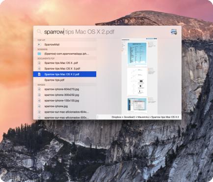 Spotlight OS X Yosemite
