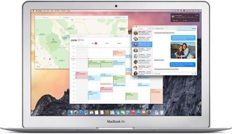 OS X Yosemite calendriers