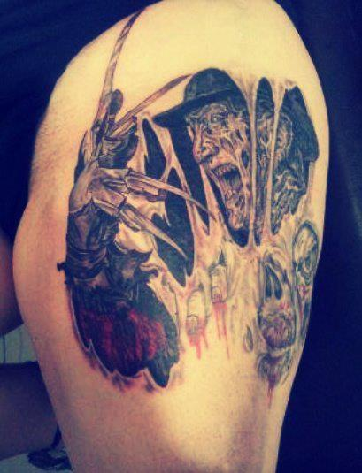 Tattoo-horror-mogwaii-Freddy-Kruger2