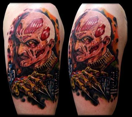 Tattoo-horror-mogwaii-Freddy-Krueger