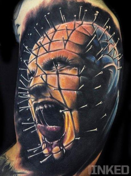 Tattoo-horror-mogwaii-Pinhead-by-Chad-Chase