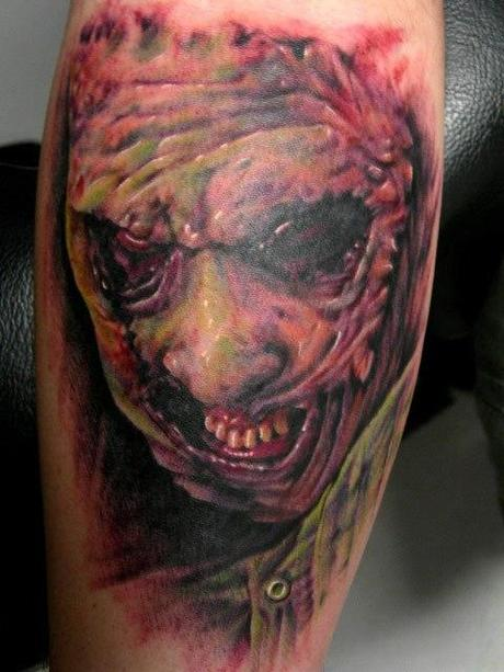 Tattoo-horror-mogwaii-Leatherface-The Texas-Chainsaw-Massacre