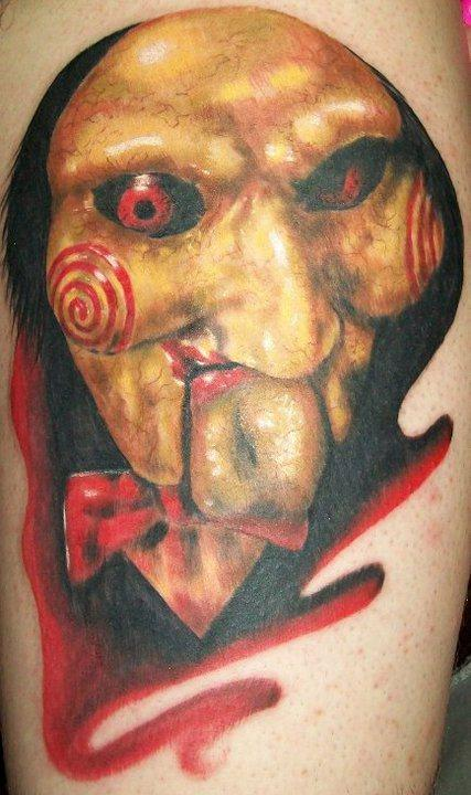 Tattoo-horror-mogwaii-Jigsaw, Saw