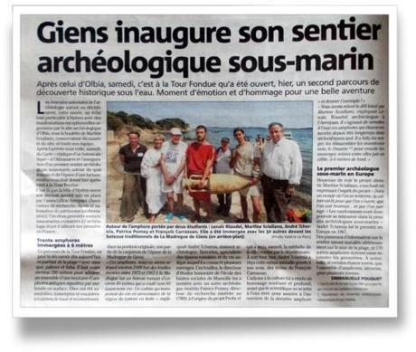 inauguration sentier sous-marin archeologique