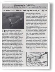 Inauguration sentier archéologique sous-marin Tour Fondue