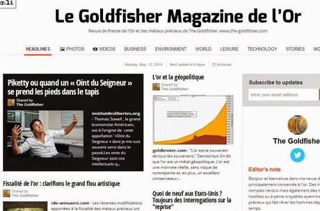 Le Goldfisher Magazine de l'Or