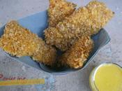 Poulet panés flocons d'avoine sauce moutarde, miel curry (comme KFC)