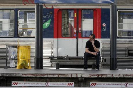 Sur un quai de gare en Ile-de-France