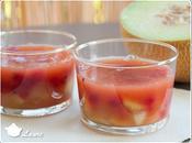 Aspics fruités melon groseille