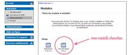 module a installer WP
