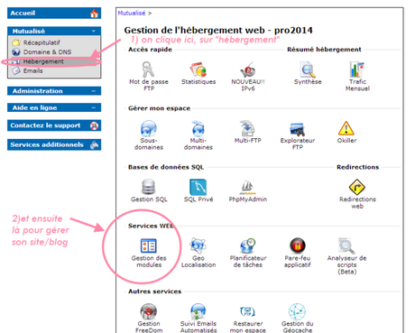 ancienne interface ovh web
