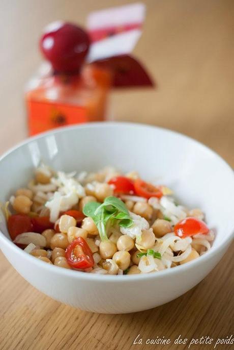 Salade de pois chiche simple et légère