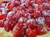 Tarte fraises crème pâtissières basilic