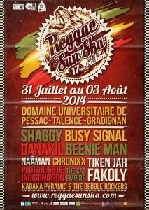 Reggae Sun Ska Festival du 31 juillet au 3 aout, Talence