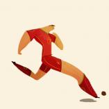 Rafael Mayani dessine un poster pour la coupe du monde