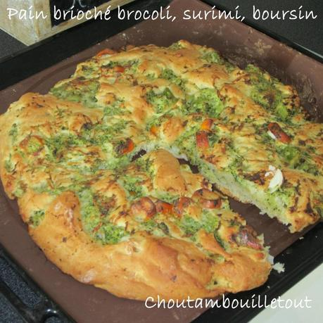 pain brocoli, surimi boursin