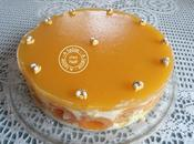 Entremets pêches abricots