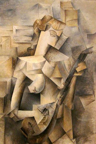 Girl with a Mandolin de Picasso