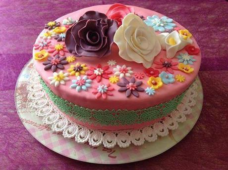 Gâteau l'envolé de fleurs
