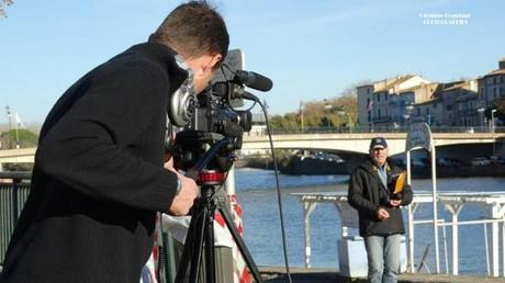 Coulisse du tournage pour les 50 ans de la découverte de l'Éphèbe d'Agde    Coulisse du tournage pour les 50 ans de la découverte de l'Éphèbe d'Agde   Claude BARTHELEMY. à la caméra et Christian Tourrette  le réalisateur