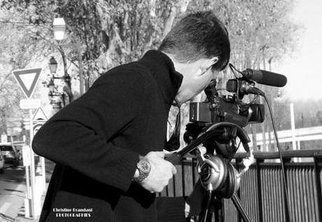 Coulisse du tournage pour les 50 ans de la découverte de l'Éphèbe d'Agde   Claude BARTHELEMY. Un caméraman