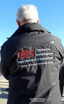 Coulisse du tournage pour les 50 ans de la découverte de l'Éphèbe d'Agde  L'association Ibis a été créée en 2002 par un groupe de plongeurs passionnés par l'archéologie
