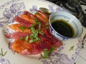 Sashimis maison thon saumon