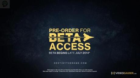 destiny beta La bêta Destiny aussi sur Xbox  Xbox One Destiny beta