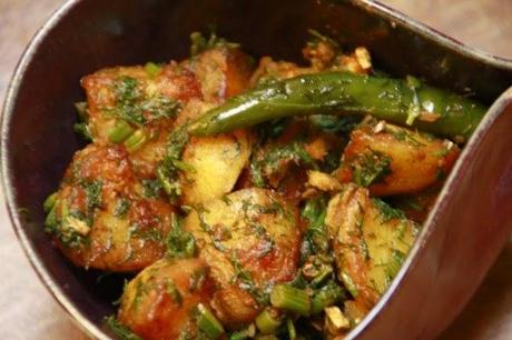 Aloo Suva bhaji – pommes de terre à l'aneth façon indienne – Indian style dill potatoes