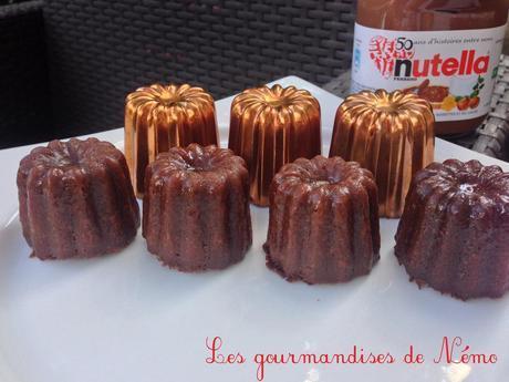 Cannelés au nutella et moules en cuivre