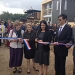 Inauguration du Solar Decathlon par la Ministre du Logement